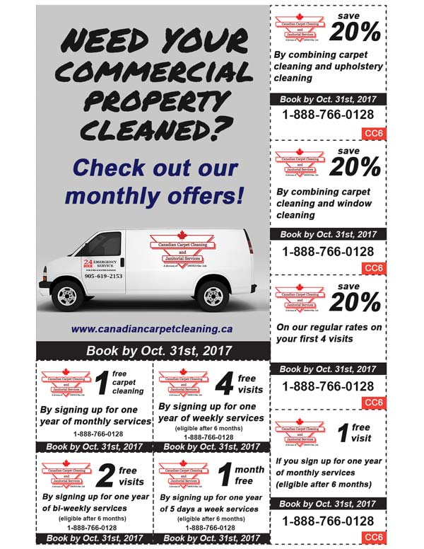 Janitorial Specials Fall 2017