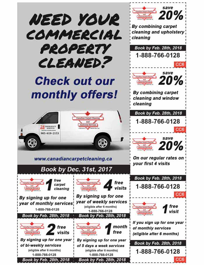 Janitorial Specials February 2018